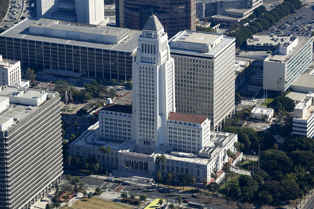 Aerial-Photograph-Los-Angeles-City-Hall-3